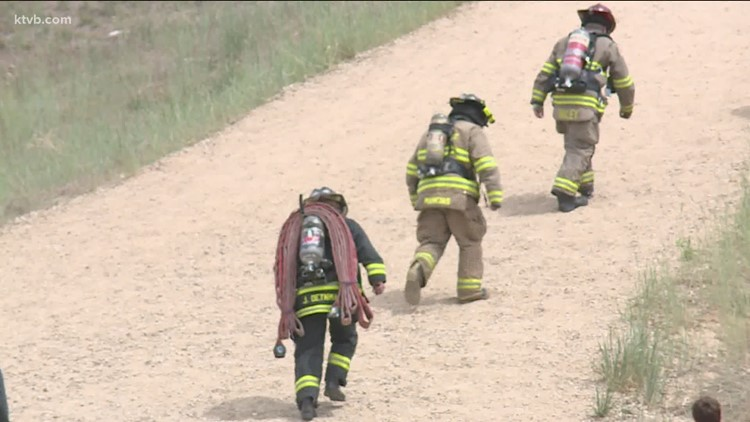 Boise Fire Dept. participates in stair climb to raise money for Leukemia and Lymphoma Society