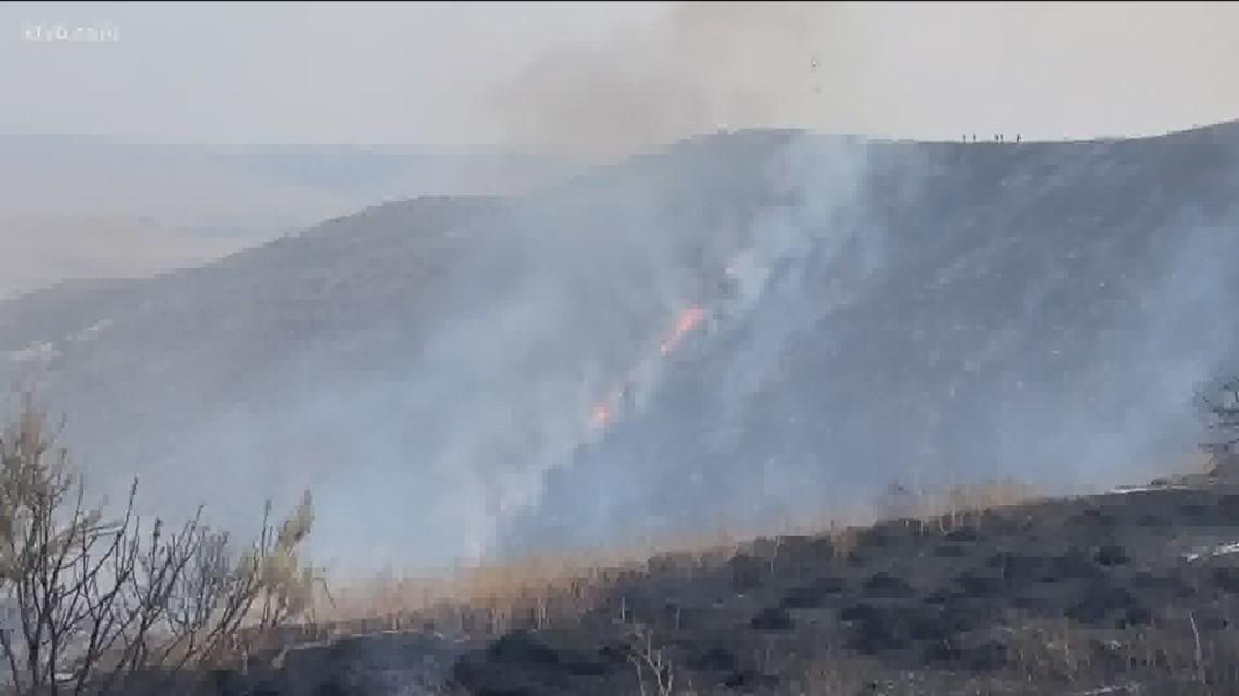 Tanker plane crash near Emmett fire sends one to hospital