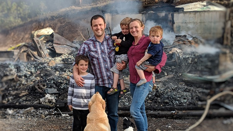 Boise County family shares inspirational Easter message after their home burns down on Friday