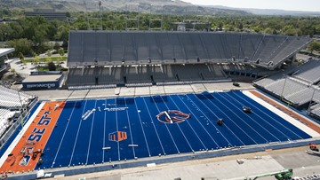 Boise State football: Garth gets to play on the new blue first