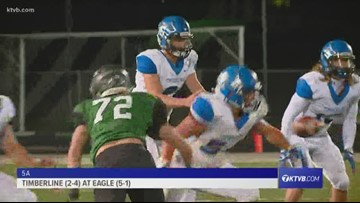 Class 5A Varsity Football Highlights: Timberline Wolves vs. Eagle Mustangs