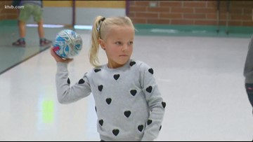 7's Hero: 5-year-old Meridian girl loves to play quarterback on an all-boys team
