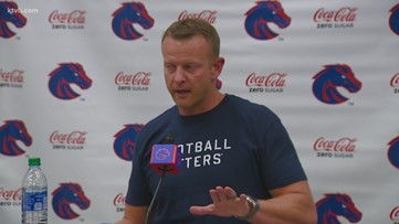 Boise State coach Bryan Harsin responds to social media criticism of the 8-1 Broncos