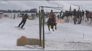 'Crazy cowboys' and 'crazy skiers' team up in skijoring, Idaho's wildest winter sport