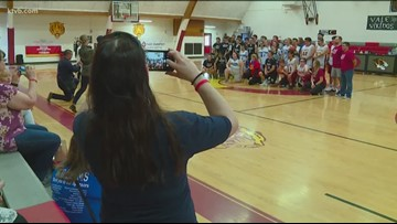 Special education students 'Support the Court' in Ontario basketball game