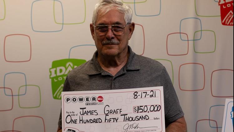 Idaho man claims $150,000 Powerball prize