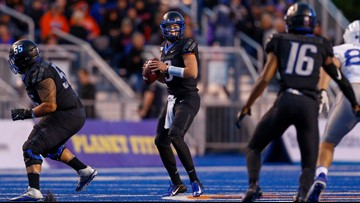 Watch Boise State's post-game news conference after the Broncos beat Air Force 30-19