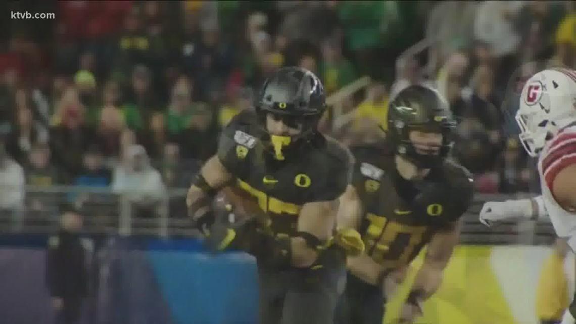 Oregon transfer junior running back Cyrus Habibi-Likio comes to Boise
