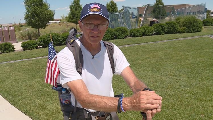 71-year-old veteran walks 3,000 miles for veteran causes