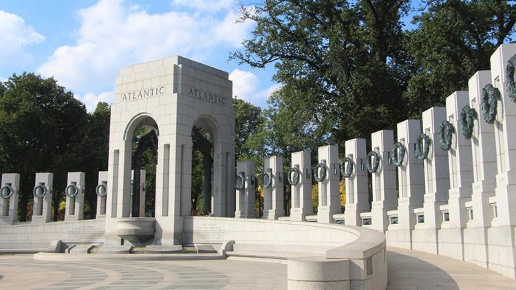 The National World War II Memorial in Washington, DC