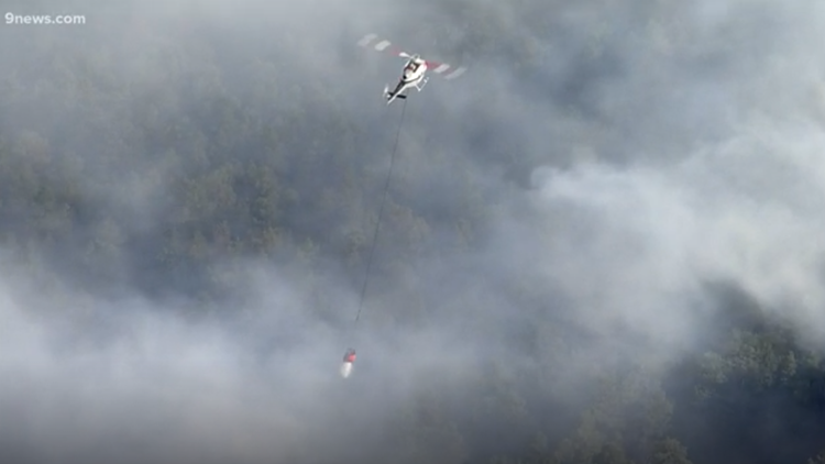 Wildfire prompts evacuations near Colorado Springs