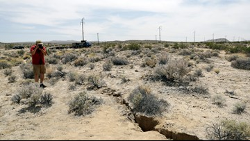 Study: California's big July quakes strained major fault, starting 'fault creep'