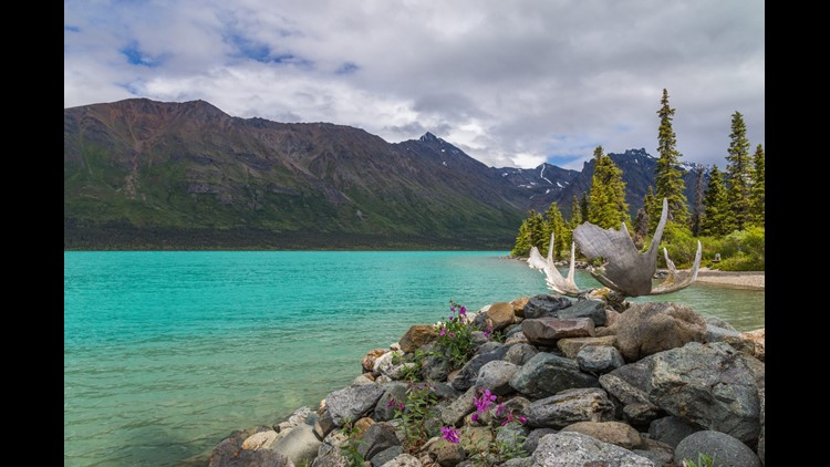 Lake Clark is a 42-mile long freshwater lake, rich with salmon and other wildlife.(Photo by National Parked / Shutterstock.com)