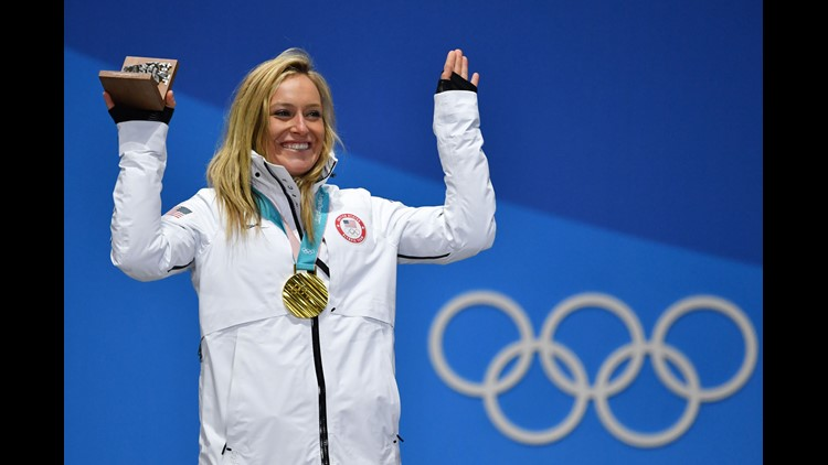 Jamie Anderson gold medal ceremony