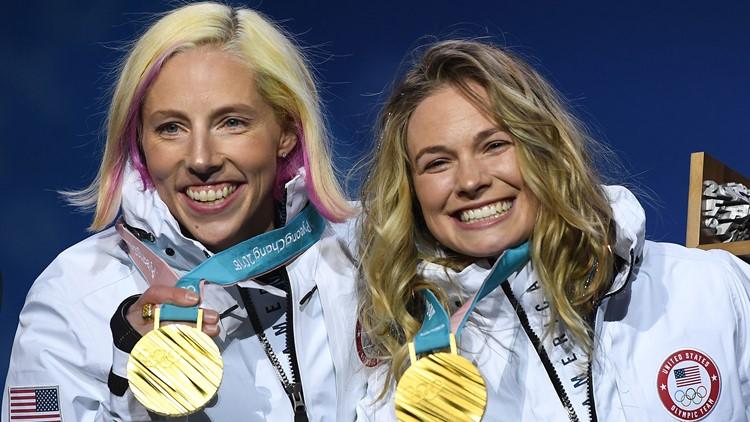 kikkan randall jessica diggins medal gold
