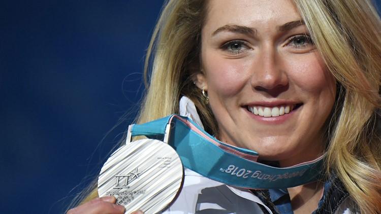 Mikaela Shiffrin silver medal