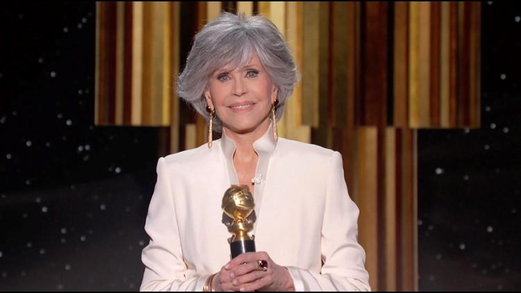 Jane Fonda calls for more Hollywood diversity in Golden Globes speech