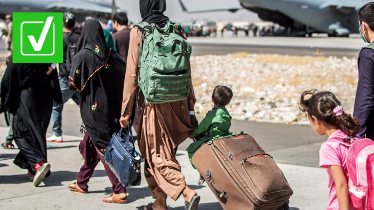 Yes, there is a vetting process for Afghan refugees coming into the US