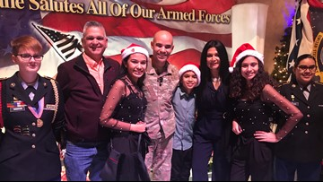Kids get major surprise when dad serving in Middle East comes home early for Christmas