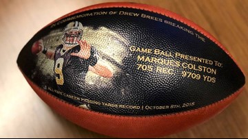 Drew Brees sends classy gift to teammates who helped him break NFL record